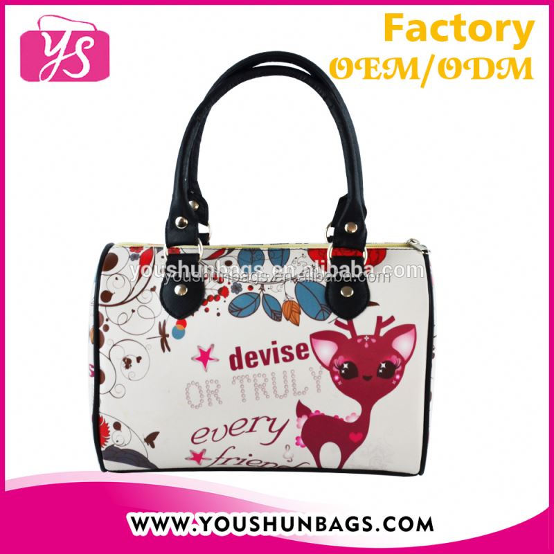 Customized Deer Printing Leather Bag The Find Handbags in Boston Shape for Girls