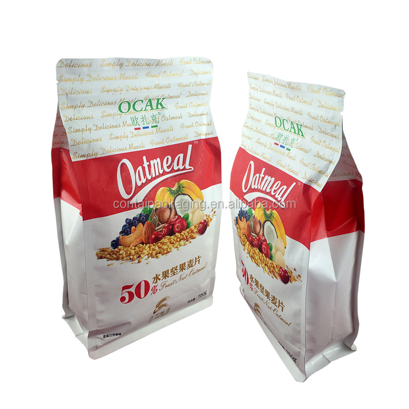 Free sample custom printed stand up zipper aluminum foil heat resistant plastic bag for chips snacks