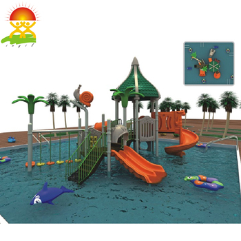 Water park equipment plastic water slide