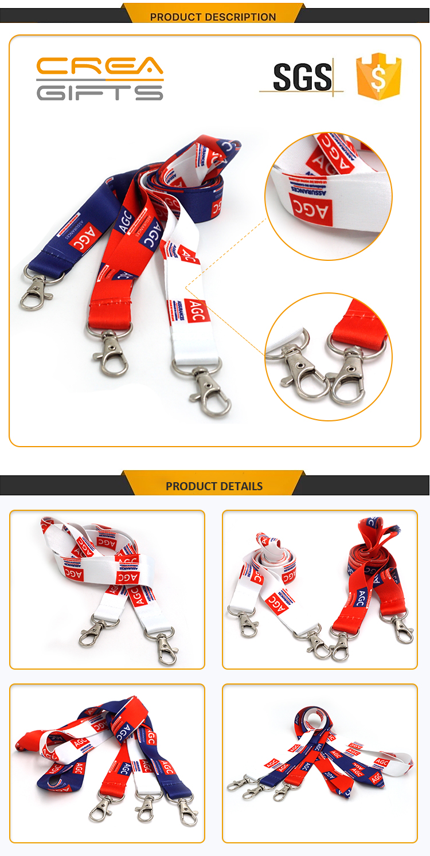 Wholesale Custom Logo Printed Sublimation Retractable Dport Lanyard Ribbons