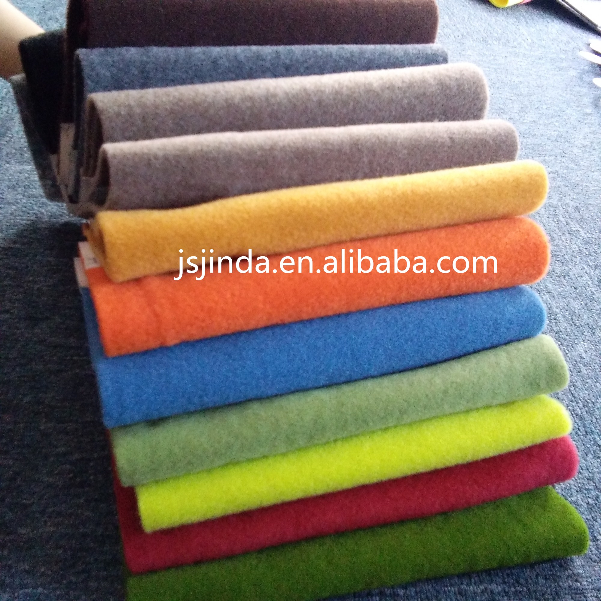 100% polyester Superior Quality Needle Punched  PET Colorful Fleece Non woven Trunk Carpet Fabric