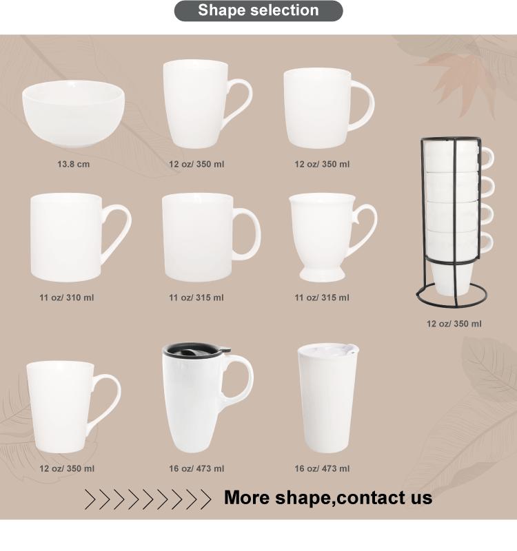 En gros personnaliser Imprimer logo De Noël en céramique en forme de V sans poignée tasse de thé de café