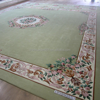 hotel decoration hand tufted rug with leaf pattern hand made carpet