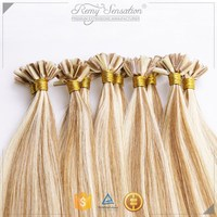 tangle free Russian virgin remy utip hair extensions