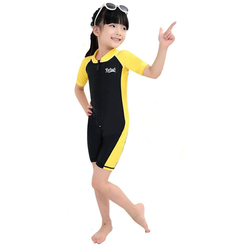 7801fcbd95 Get Quotations · Saymequeen Kids Wetsuits UPF 50 UV Short Sleeve Surfing  Swimwear One-Pieces