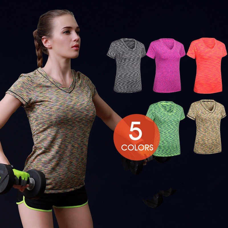 Custom Made Running Wear Breathable Quick Dry Fitness Short Sleeve Sport Shirts