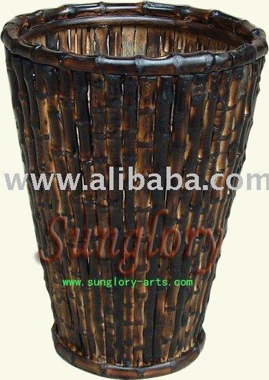 floreros de bamb