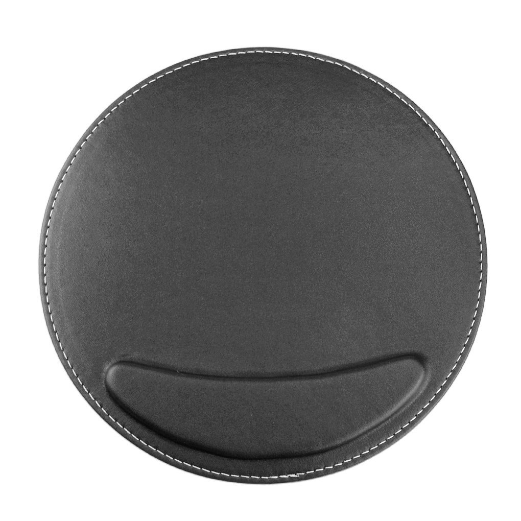 Bao Core BXT High-Grade Needle Grain Soft PU Leather Gaming Mice Mouse Pad Mat Wrist Support Rest Wide Smooth Surface Black