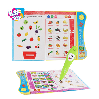 preschool language learning educational english talking pen book for children