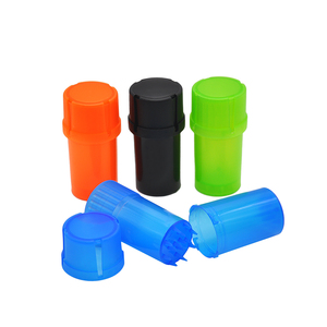 Plastic Herb Grinder Weed Grinder with Big Storage Layer and Anti-child Safety Lock