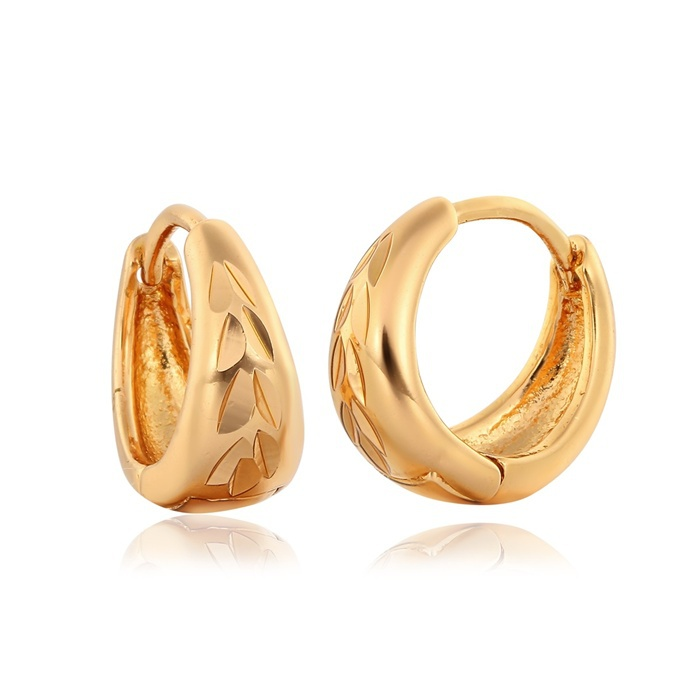 790bb0c98 Get Quotations · Wholesale! Unisex Round Faceted 18K Yellow Gold Plated  Hoop Huggie Earrings Fashion Womens Mens Jewelry