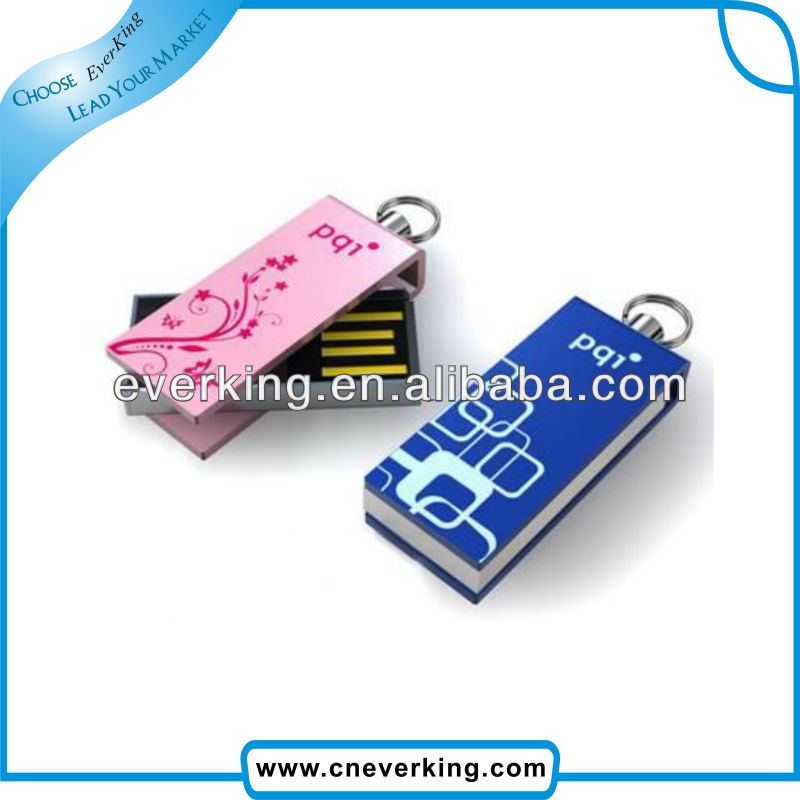 metal swivel usb stick logo print with colorful printing usb flash