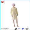 non woven pp yellow laboratory isolation gown