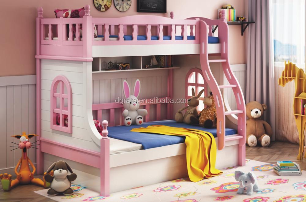 2018 Pink Cartoon Windows Soild Wood Series Bunk Bed Children Bedroom Set  For Bedroom Furniture - Buy Children Furniture,Bunk Bed,Soild Wood Bed ...