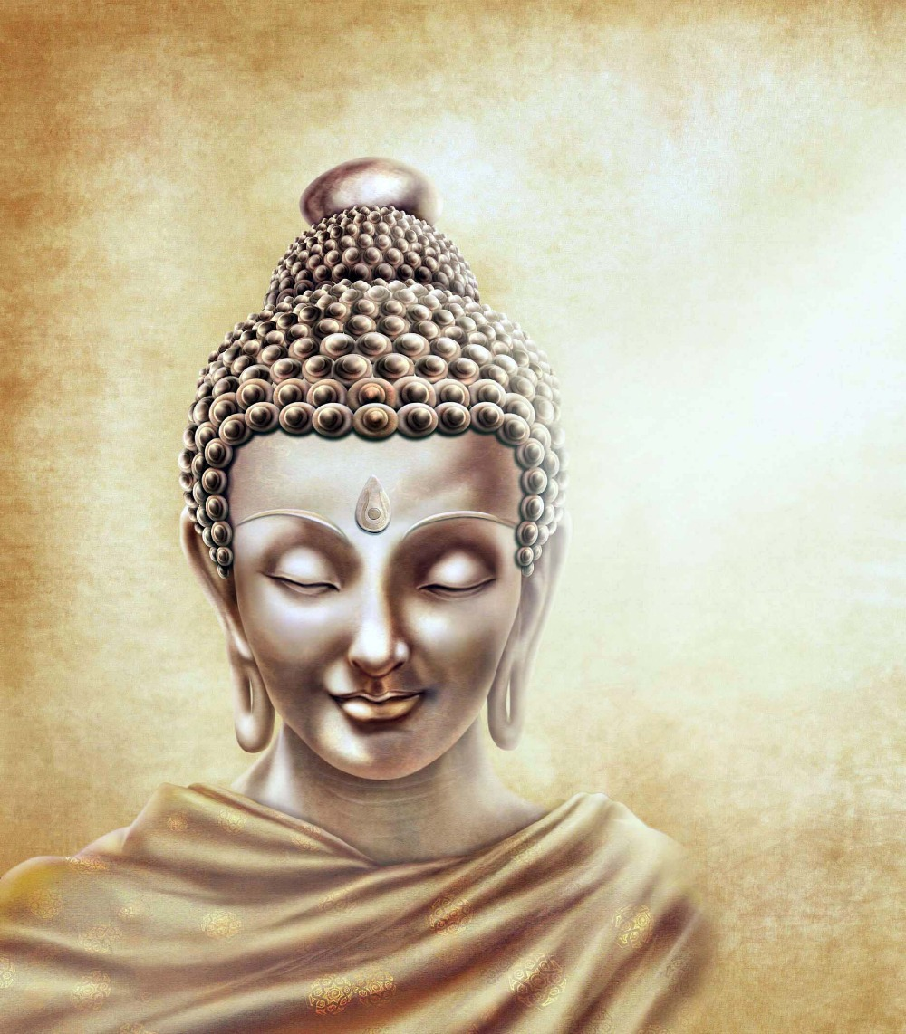 Wallpaper Buddha Quotes: Newest Handmade Buddha Face Art Oil Painting On Canvas