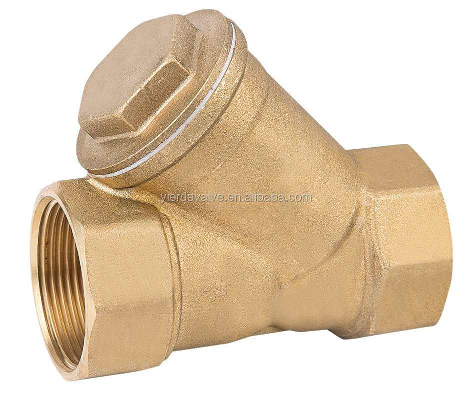Hot Sale Y-Strainer with ss net material Hpb57-3 ISO approved Brass check Valve