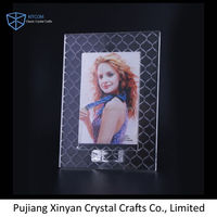 Newest selling unique design light crystal photo frame with different size