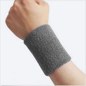 Sweatband Set Cotton Sports Headband Terry Cloth Wristband