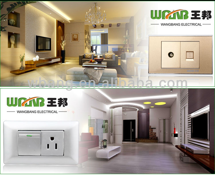 wall mount socket outlet without  earth  2019