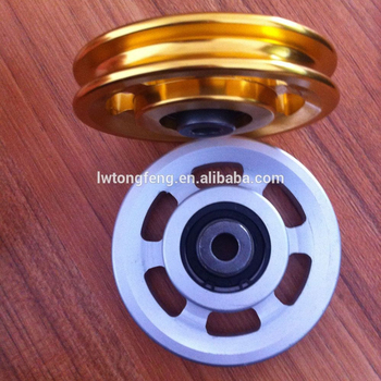 steel wire rope pulley for pulley apparatus bodybuilding
