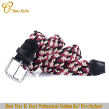 Factory wholesale Braided Elastic Mens Stretch Belts