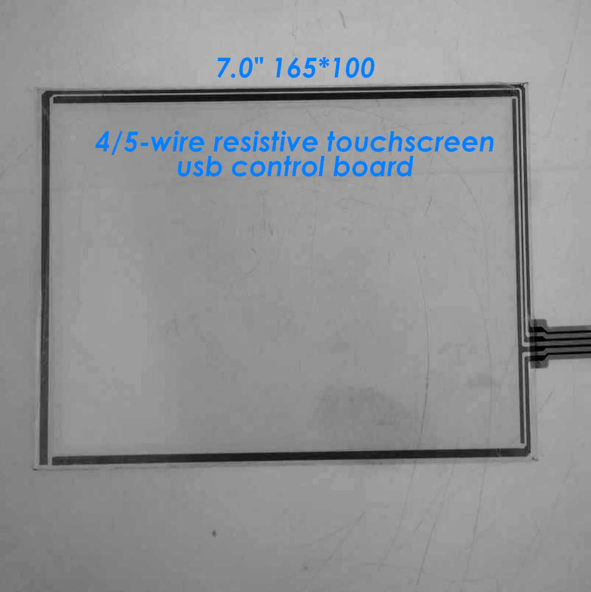 "7.0"" 165*100mm 4-wire or 5-wire resistive touchscreen with com/serial control board, 7 inch lcd lvds touchscreen,New"