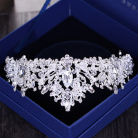 Wholesale bridal hair accessories wedding party jewelry crown tiara with pearls