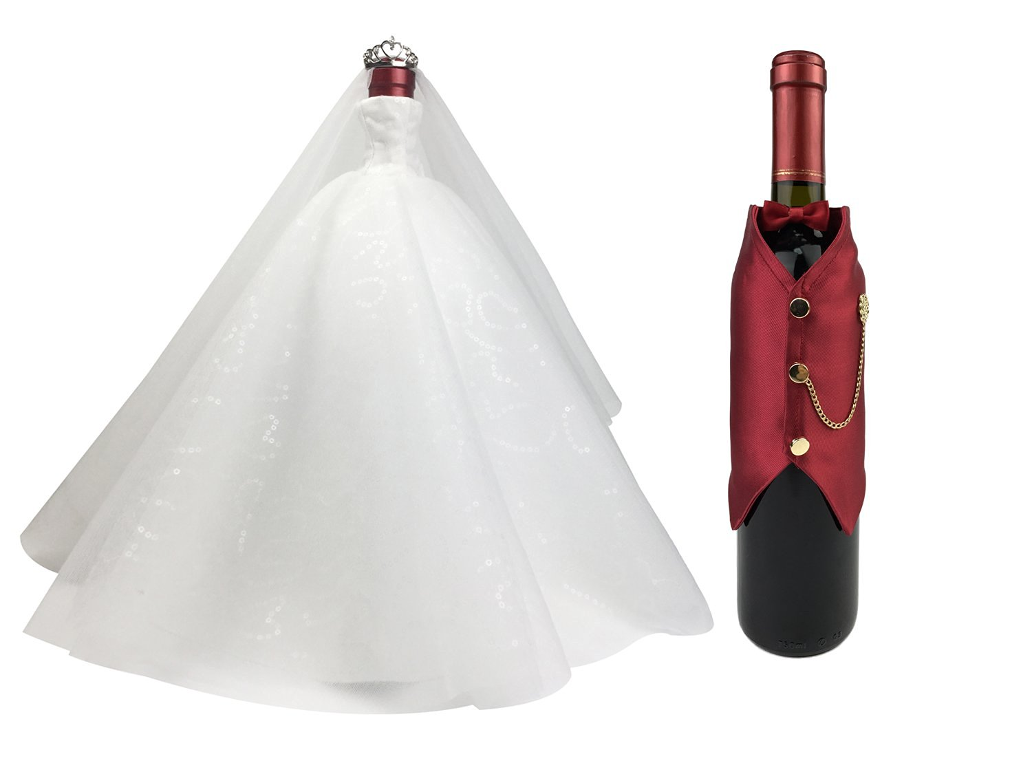 gifts for wine loversbride and groom wine bottle covers set decorations for wedding