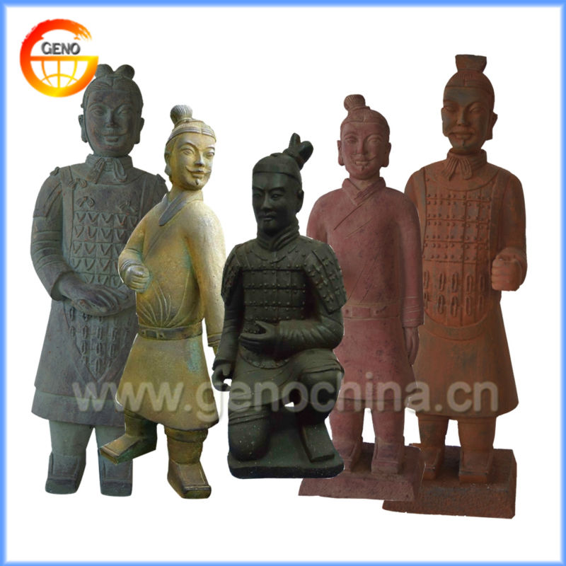 Standing Chinese Terracotta Warriors Souvenir for Garden Design