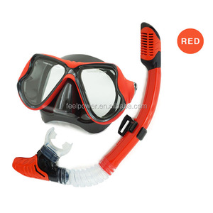 OEM Design Tempered Glass Snorkeling Mask Full Dry Diving Mask Set Waterproof Swimming Goggles for Adult