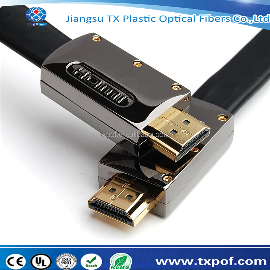 4k 2.0 2160P high speed hdmi to hdmi flat cable for TV