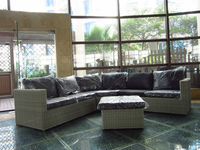 2015 new design rattan and wicker garden sofa set