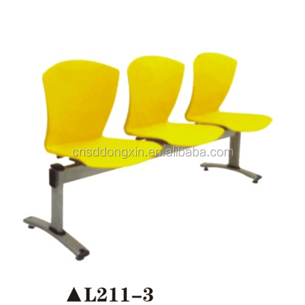 Yellow public waiting bench chair medical office waiting room chairs L211-3