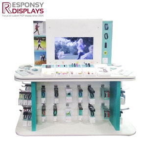 Electronic sport products sports bracelet display stand with TV video