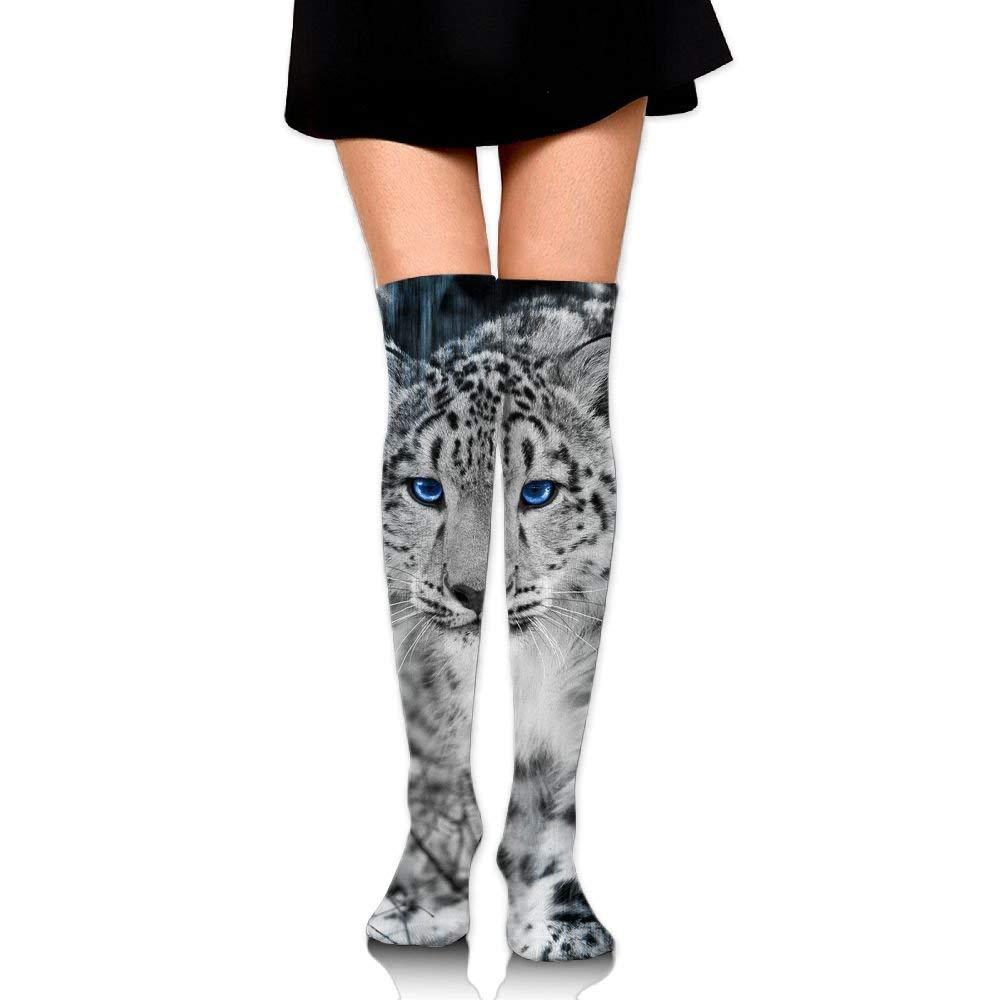Zaqxsw Crazy Snow Leopard Animal Womens Socks Thigh High Knee High Socks Cycling Socks