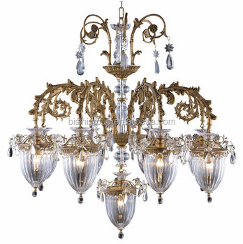 Antique Solid Brass Chandelier With Lights In Lily Of The Valley ...