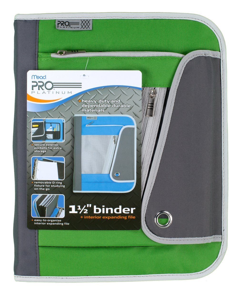 Buy Mead PRO Platinum Heavy-Duty Zipper Binder With Handle