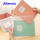 Cute Matte Style Transparent A4 A5 File Bag Stripped Folder