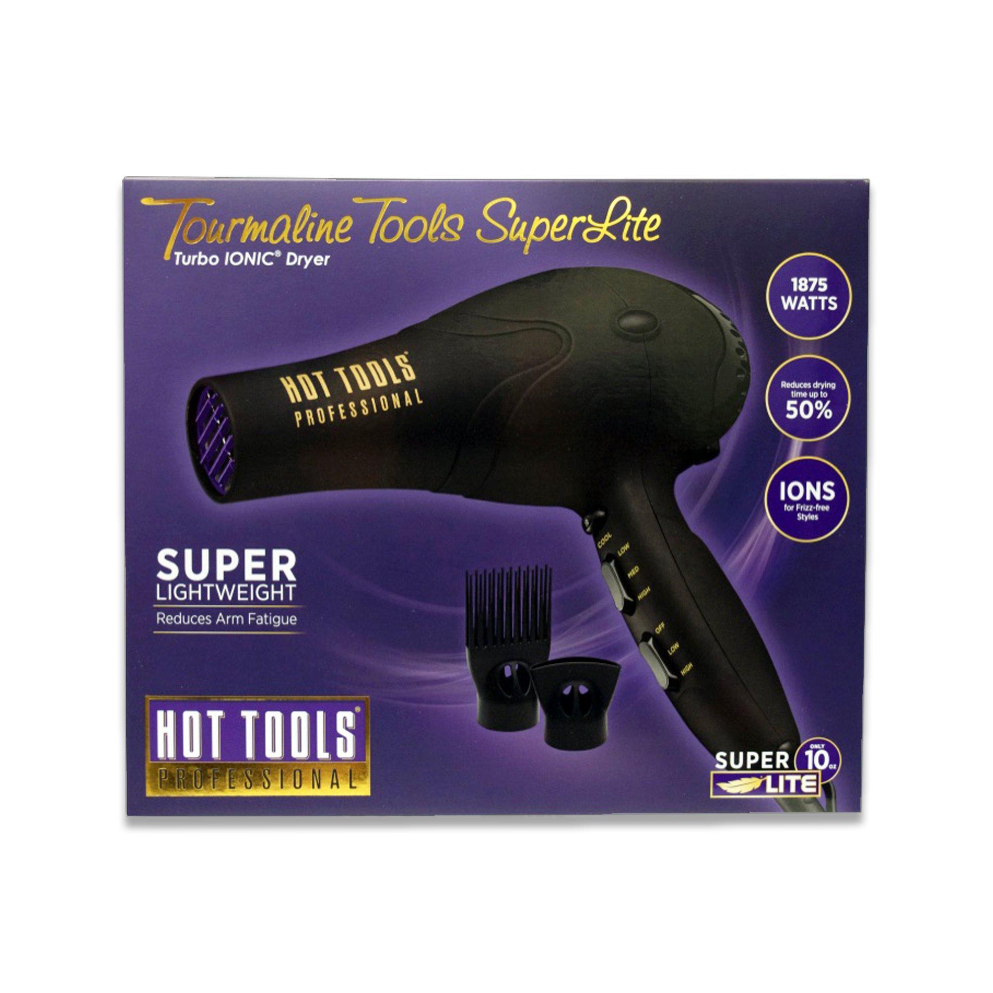80c245b0734b Get Quotations · Hot Tools Tourmaline Tools Superlite Turbo Ionic Dryer  Light Weight 1875 Watts HT7030D