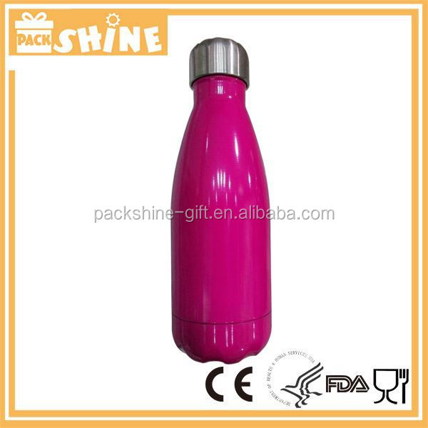 Double Wall Vacuum Flask Bottle Wood Grain Thermos Cola