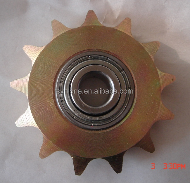 Assembled sprocket with bearing