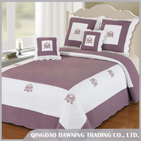 Qingdao Dawning Embroidered Cotton Quilted Bedspread