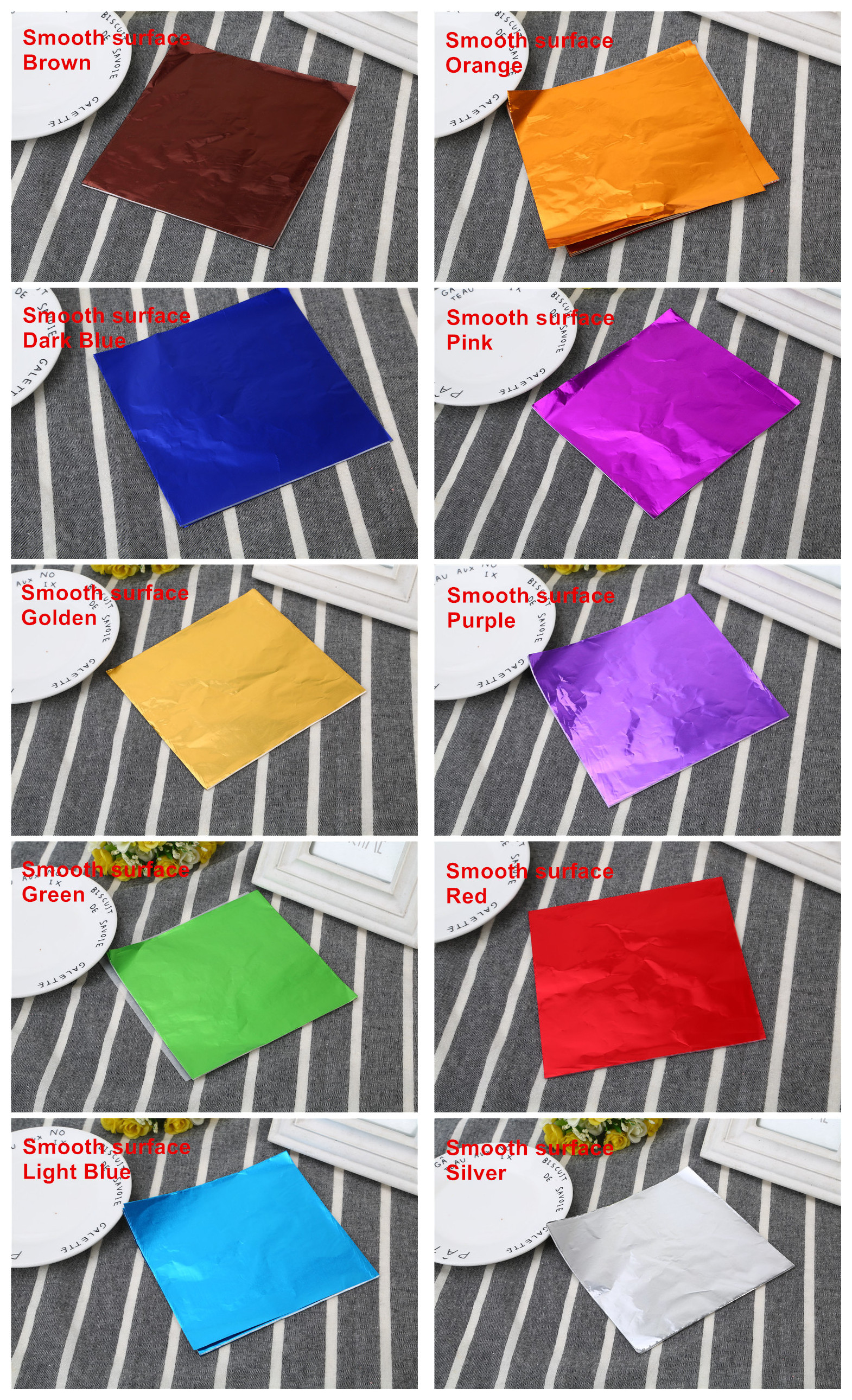 Food grade 8*8 cm colorful chocolate aluminum foil wrapping paper