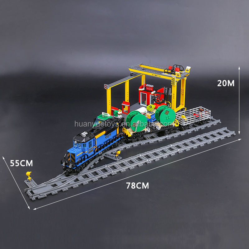 Lepin 02008 <strong>City</strong> Series the Cargo Train Set Building Blocks Bricks 60052 RC Train Children Educational Toys Gift <strong>City</strong> Lepin