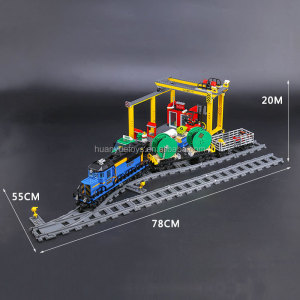 Lepin 02008 City Series the Cargo Train Set Building Blocks Bricks 60052 RC Train Children Educational Toys Gift City Lepin