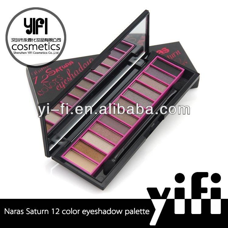 Professional! Naras Saturn 12 colors eyeshadow palette 18 colours
