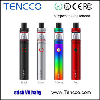 2017 Tencco Wholesale Authentic Smok Stick V8 Baby Kit With Tfv8