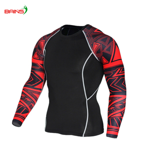 Lycra fabric sports women compression shirt fitness