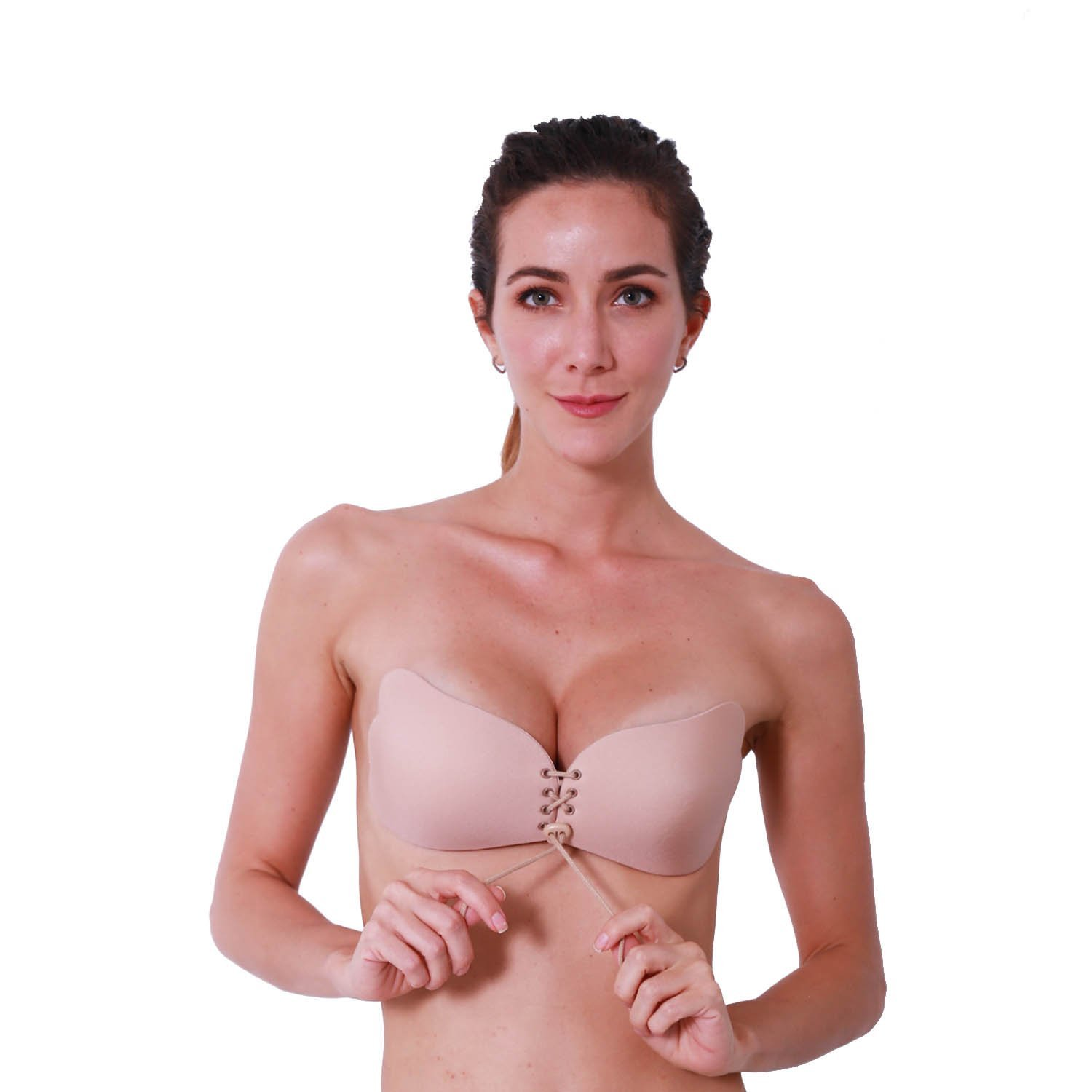 6781221a8abf2 Get Quotations · AbSexy Self Adhesive Bra Invisible Strapless Push Up Bra