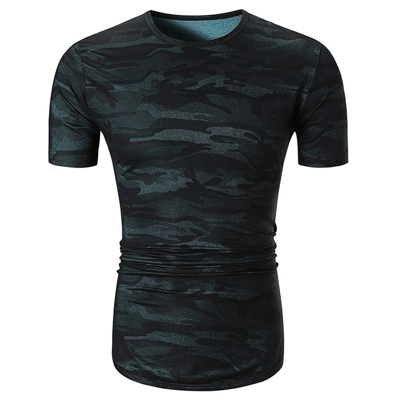 Caopixx Mens T-Shirt,2018 Men's Casual Camouflage Print Tee Shirt O Neck Pullover Short Sleeve Top Blouse